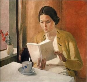 Alexandre_Deineka_jeune femme lisant_1934_arts_et_cloitre